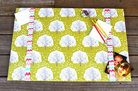 Diy Fabric Desk Pad Desk Blotter Pretty Prudent Diy Desk Blotter