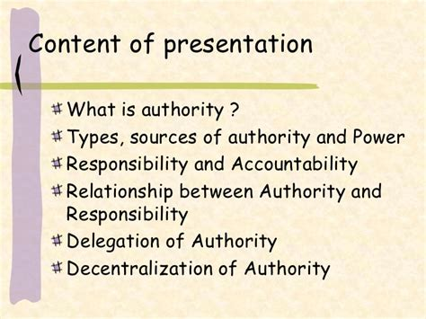 of authority delegation of authority responsibility and decntralization