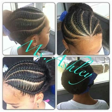 hairstyles for 13 year olds with weave braided bun natural kids cornrow buns pinterest