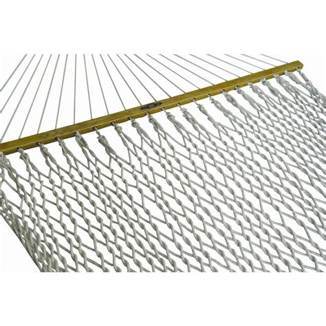 pawleys island 13 ft deluxe cotton rope hammock in white