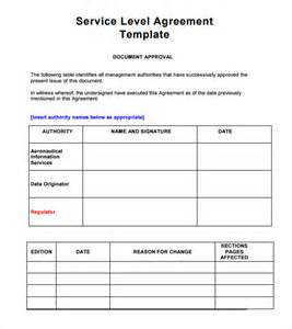 service level agreement template sle service level agreement 8 exle format