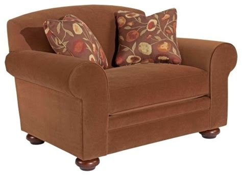 wide armchairs broyhill bryson extra wide chair with two pillows 4932