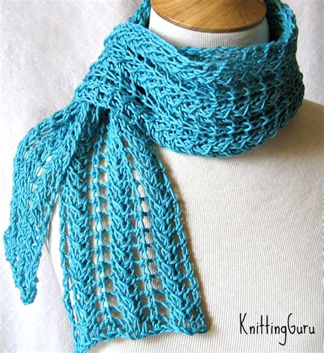 Zigzag Lace Scarf Pattern | knit scarf pattern zigzag lace scarf plus 3 tutorials