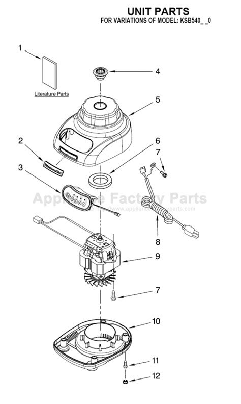 parts for ksb540ob0 kitchenaid small appliances