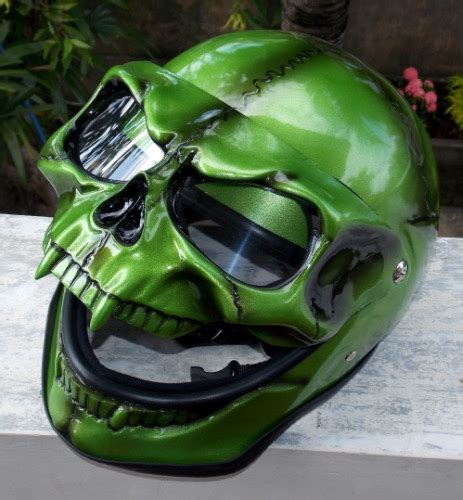Grim Reaper Green Goblin Skull Full Face Helmet ... Imitation Leather