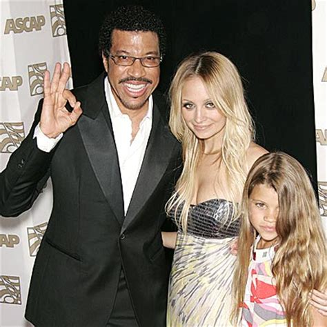 lionel richie photos photos site of nicole richie and star tracks thursday april 10 2008 father figure