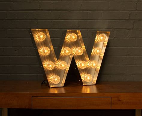 light up marquee bulb letters w by goodwin goodwin