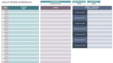 weekly schedule by hour matchboard co