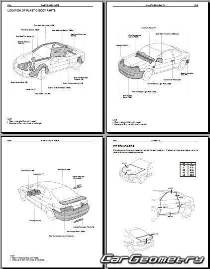 car repair manuals online pdf 1996 toyota paseo free book repair manuals кузовные размеры toyota paseo el54 1996 1999 collision repair manual