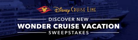 Free Disney Cruise Sweepstakes - disney com wondercruisesweeps disney wonder cruise sweepstakes