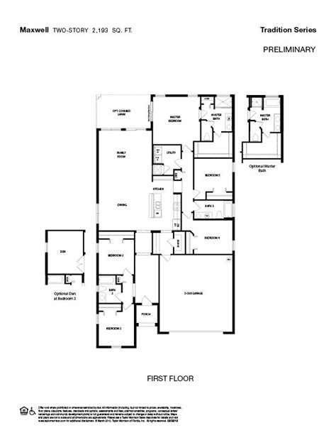 taylor morrison homes floor plans view maxwell photos at kindlewood in middleburg fl