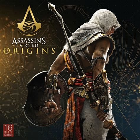 libro assassins creed origins 2018 assassin s creed 2018 wall calendar 764453001075 calendars com