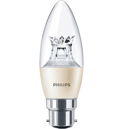 master ledcandle dt 6 40w b22 b38 cl master led candles and lusters philips lighting