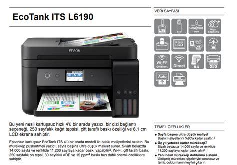 Printer Epson Fotokopi epson l6190 taray箟c箟 fotokopi wi fi m 252 rekkep tankl箟 fiyat箟