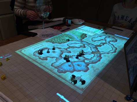 Projector Onto Ceiling by Dungeons Amp Dragons And Settlers Of Catan With Projection