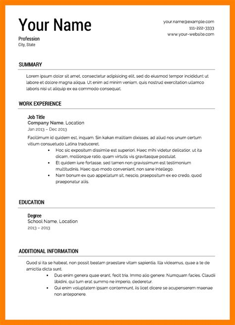 what does a resume look like resume format