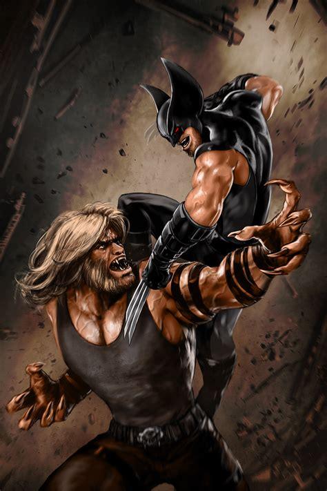 imagenes de batman vs wolverine batman deathstroke vs sabretooth wolverine bone claw