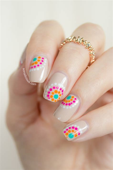 pretty summer nail design sonailicious
