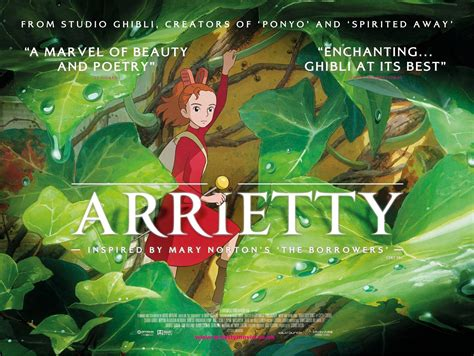 studio ghibli film arrietty inside a camo bag the secret world of arrietty and other