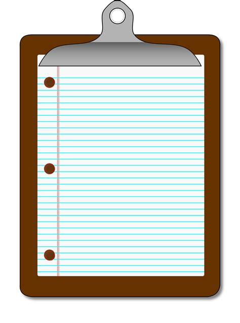 Clipboard Clipart by Crabapple Middle School