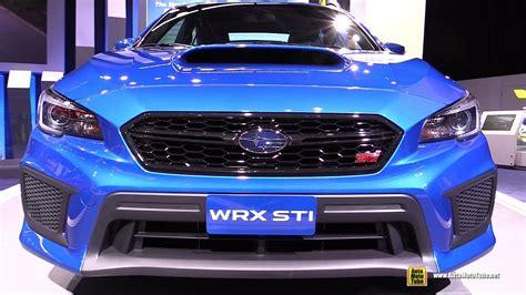 subaru wrx interior 2018 2018 subaru wrx sti exterior and interior walkaround