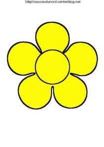 fleur 224 colorier 224 gommettes en couleur jaune