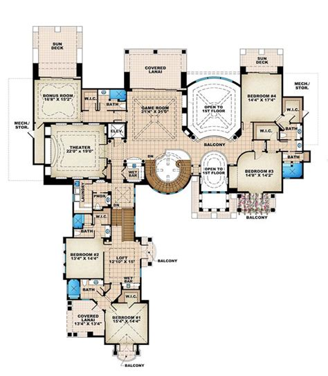 Luxury House Plans Rugdots Com Luxury Mansions Floor Plans