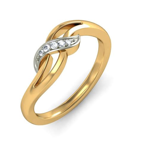 fashion promise ring for in white gold