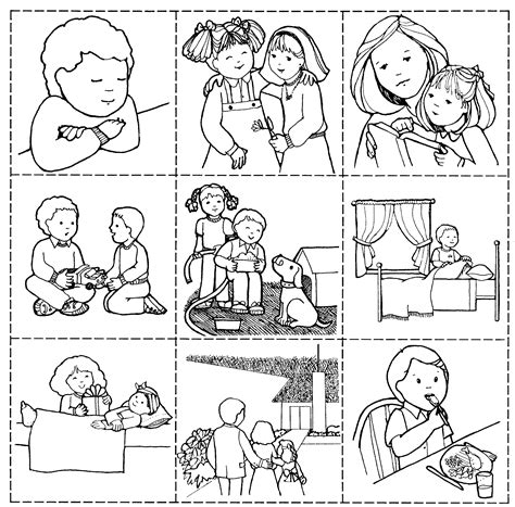 coloring pages for family home evening good works game jenny smith s lds ideas bookstore