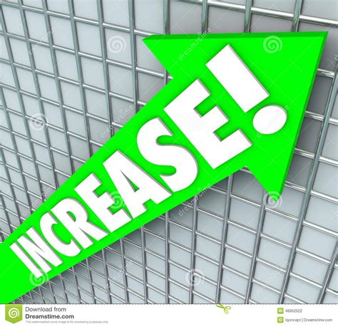 5 Letter Words Growth increase word green arrow rising up improvement more