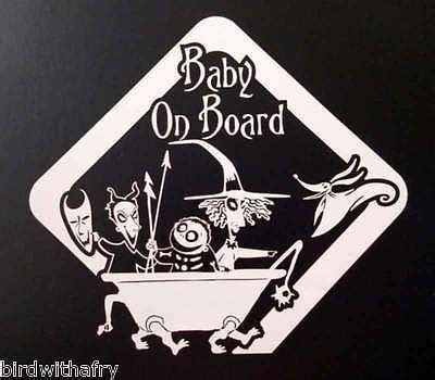 baby on board nightmare before christmas car body window