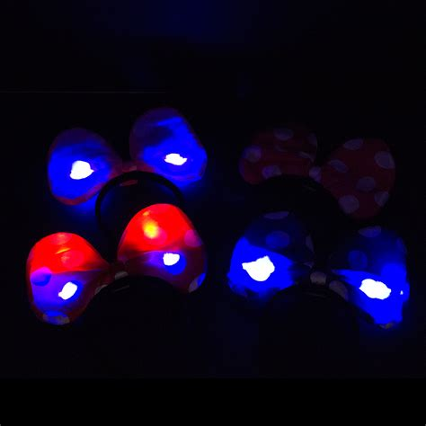 Light Up Mickey Mouse Ears by Minnie Mickey Mouse Ears Light Up Bow Headbands