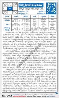 Calendar 2018 In Telugu Karkataka Cancer Rasi Phalalu 2017 2018 Yearly