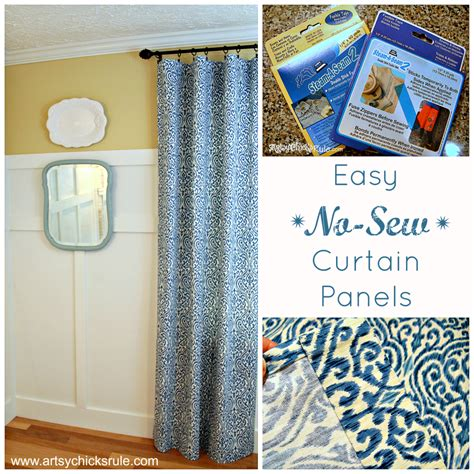 easy no sew curtains easy no sew curtain panels artsy chicks rule