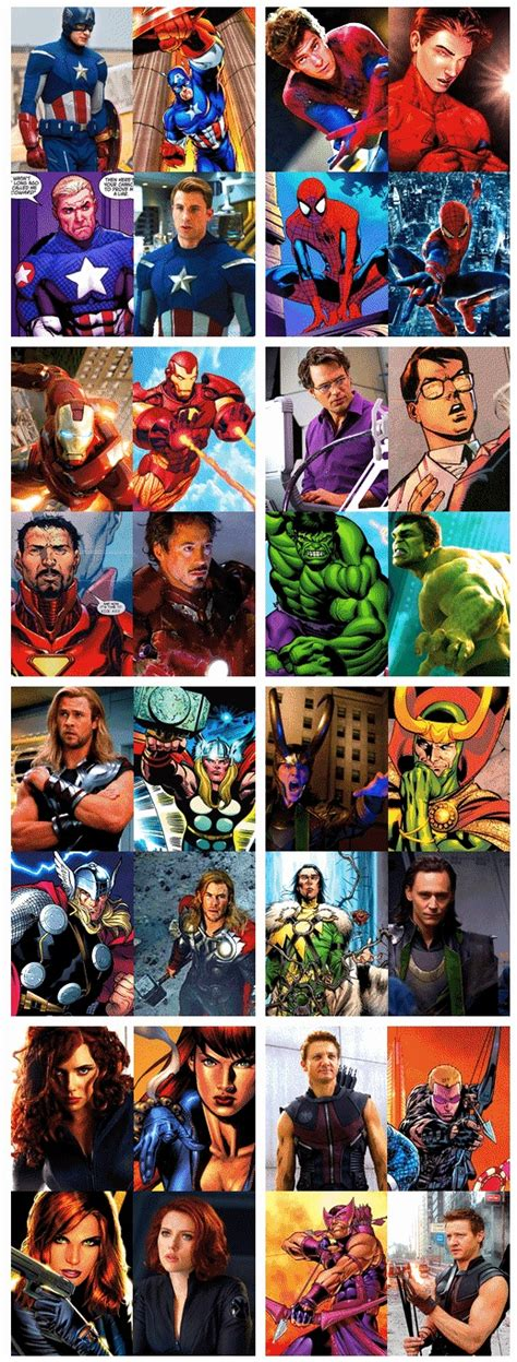 marvel versus film marvel comics vs movies nerdy and i know it pinterest