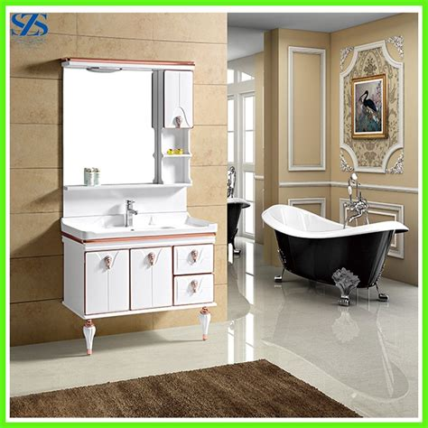 floor standing cheap used bathroom vanity cabinets with