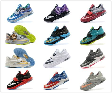 all kd shoes new arrival 21 colors kd 7 shoes high quality durant