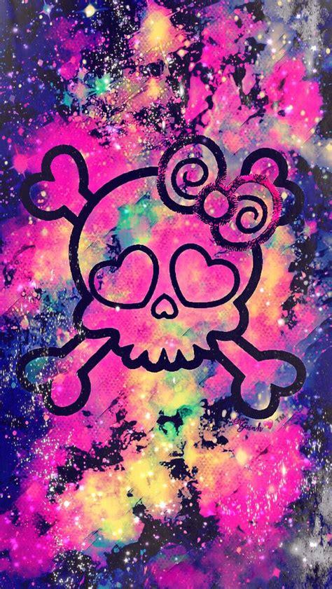girly disney wallpaper girly punk skull galaxy wallpaper androidwallpaper