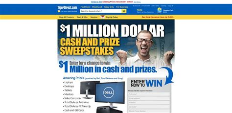 Wetv Com Sweepstakes - tigerdirect 1 million dollar cash and prize sweepstakes