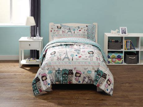 paris bed in a bag mainstays kids paris bed in a bag bedding set walmart ca