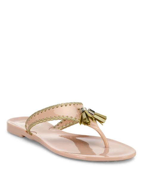 rogers jelly sandals rogers alana jelly sandals in metallic lyst