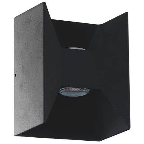outdoor matte eglo morino 2 light matte black outdoor integrated led