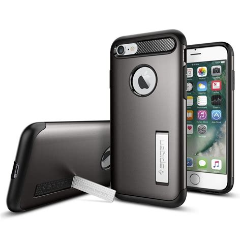 Spigen Slim Armor Gunmetal For Iphone 7 Plus iphone 7 slim armor iphone 7 apple iphone cell