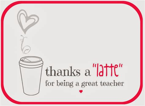 Thanks A Latte Card Template by Free Printable A Lo And Behold