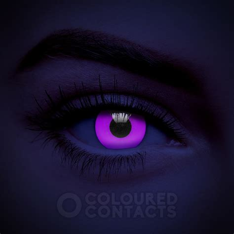 violet colored purple violet uv i glow 90 day colored contacts glow in