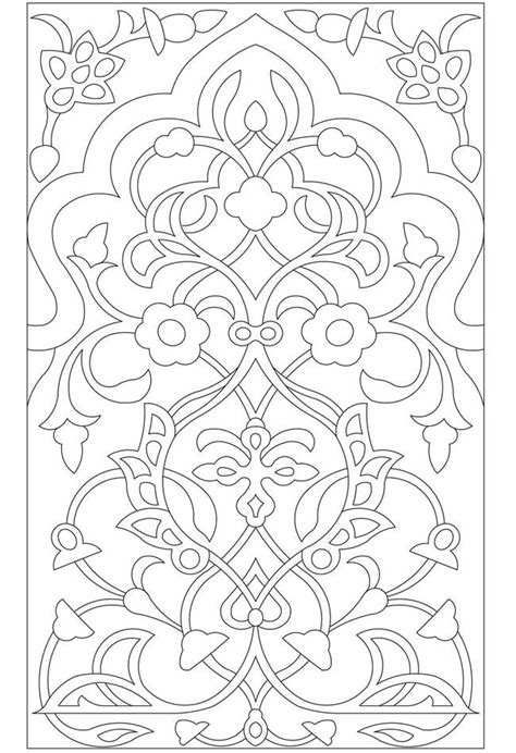 floral designs coloring pages arabic floral patterns coloring page randomness pinterest