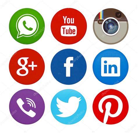 imagenes de redes sociales logos colecci 243 n de logos de redes sociales populares impresas en