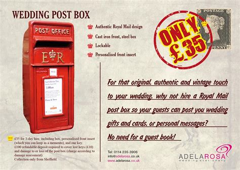 Wedding Post Box Wording by Wedding Post Box Adela Rosa