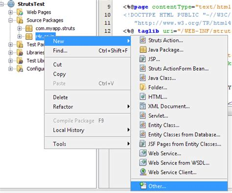 struts tutorial in netbeans creating a simple web application with netbeans ide in struts