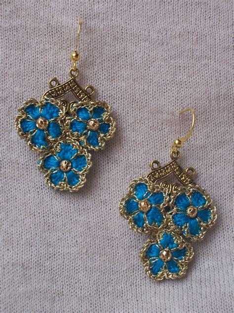 pattern crochet earrings outstanding crochet crochet earrings quot forget me not quot